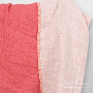 Rose linen fabric, washed, double - sided